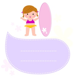 Surf Kid announcement message isolated on white vector
