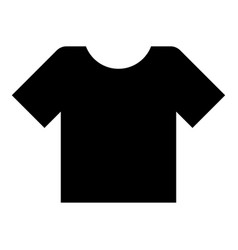 t-shirt icon black color flat style simple image vector image