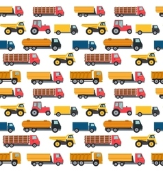 Truck Cars Seamless Pattern Background vector image