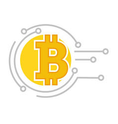 virtual system for payment and investment bitcoin vector image