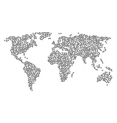 worldwide map collage of open box icons vector image