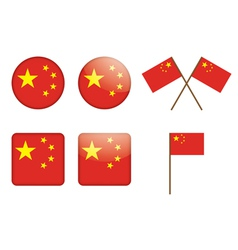badges witch flag of China vector image
