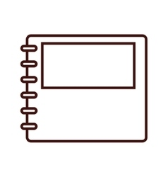 notebook notepad paper vector image vector image