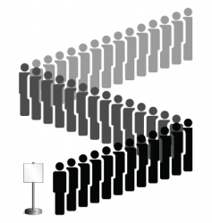 people queue vector image