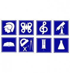 set of educational symbols vector image vector image