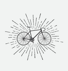 sign of sports bicycle vector image