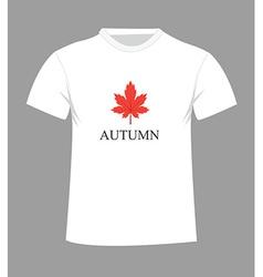 autumn t-shirt vector image vector image
