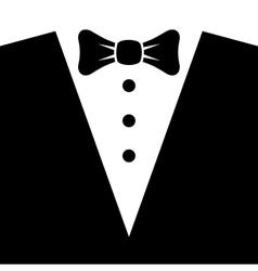 Black Tuxedo with Bow Tie vector image