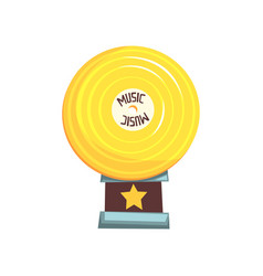 flat of golden vinyl record vector image