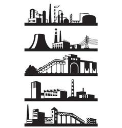 Industrial plants in perspective vector image