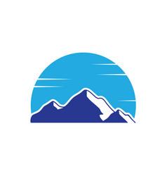mountain snow landscape logo image vector image
