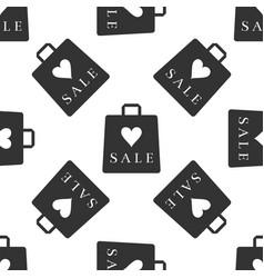 shopping bag shop love like heart icon seamless vector image
