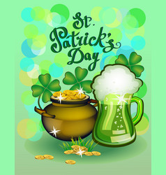 st patrick s day greeting vector image vector image