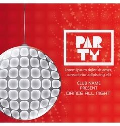 Abstract party poster design vector image