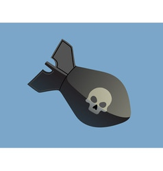 bomb with skull vector image vector image