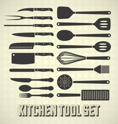 Kitchen Tools Set vector image vector image