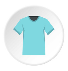 Men tennis t-shirt icon circle vector