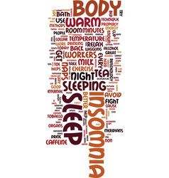 Methods you can use today to fight insomnia text vector