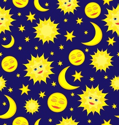 Sun moon pattern vector