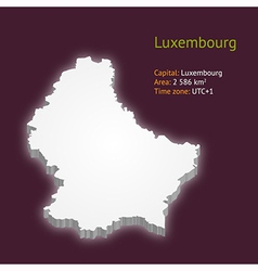 3d map of Luxembourg vector image