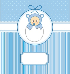 Baby within an egg vector image vector image
