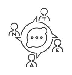 Communication concept symbol outline vector image