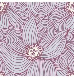 Doodle flower seamless pattern Floral textile vector image