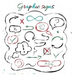 Graphic signs vector image vector image