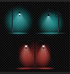 pillar lamp light set vector image