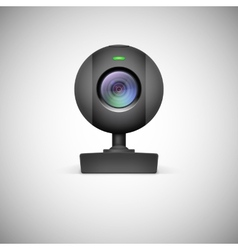 Realistic white webcam icon vector image