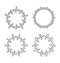 swirl frames vector image vector image