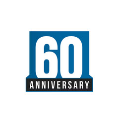 60th anniversary icon birthday logo vector