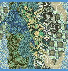 abstract damask baroque floral wallpaper vector image