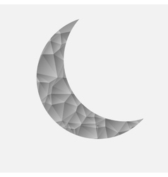 Abstract gray moon on a white background vector image