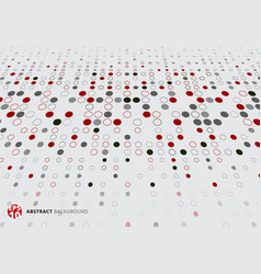 abstract halftone pattern dots red black and gray vector image