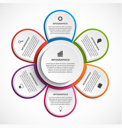 abstract options infographics template with vector image