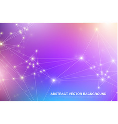 abstract plexus background with connected lines vector image