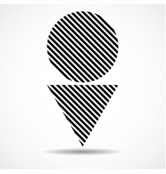 abstract triangle and circle lines geometric vector image