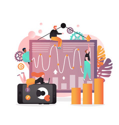 Analyst services concept for web banner vector