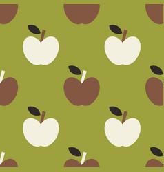 apple simple seamless pattern vector image