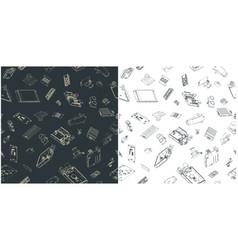 Arduino hardware seamless blueprints vector