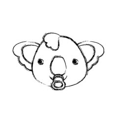 baby koala cartoon head vector image