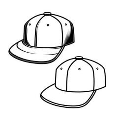 baseball cap on white background design element vector image