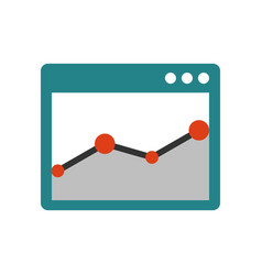 browser window with chart vector image