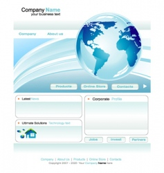 Business web site template vector