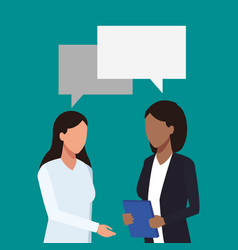 businesswomens talking avatar vector image