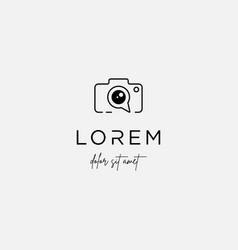 camera chat logo template icon design vector image