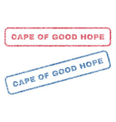 Cape of good hope textile stamps vector