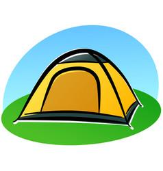 cartoon tent design vector image