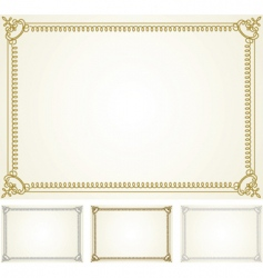 Certificate frame set vector